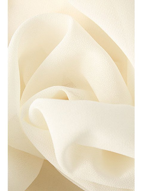 trendy Pleated Chiffon A Line Skirt - WHITE L Mobile