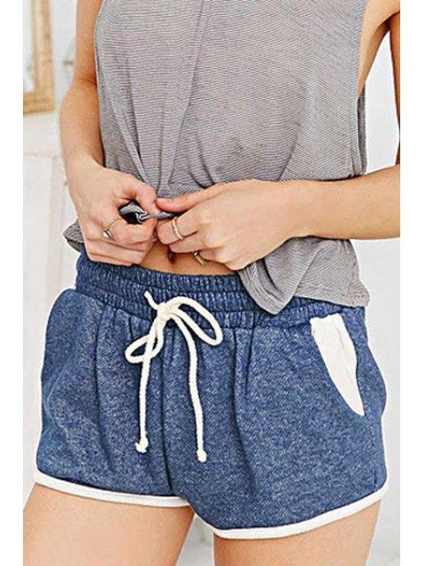 new Blue Drawstring Waisted Shorts - BLUE XS Mobile