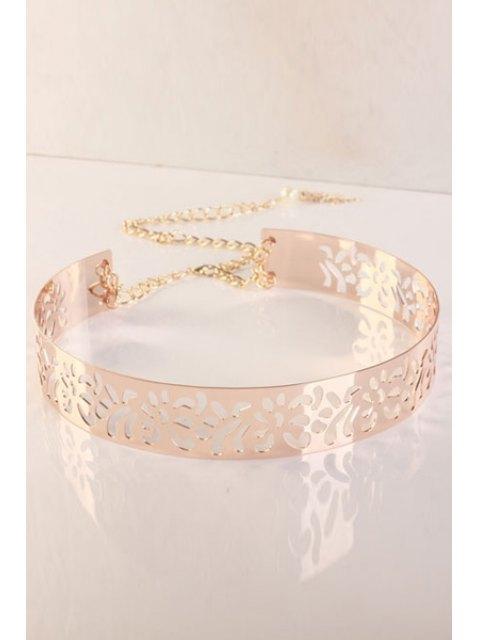 womens Tassel Pendant Alloy Waistband - ROSE GOLD  Mobile