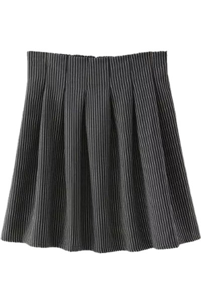 striped high waisted a line skirt black skirts zaful