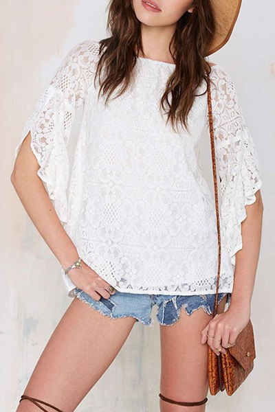 See through floral pattern half sleeve t shirt white tees for White t shirts that aren t see through