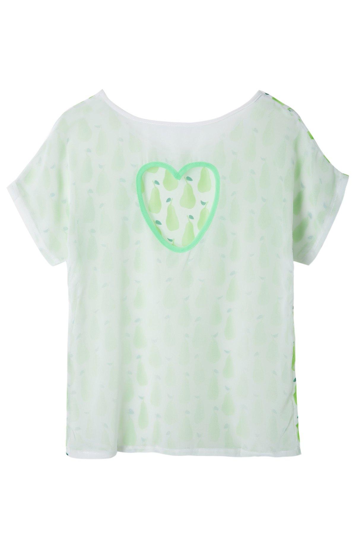 Pear Print Short Sleeve T-Shirt