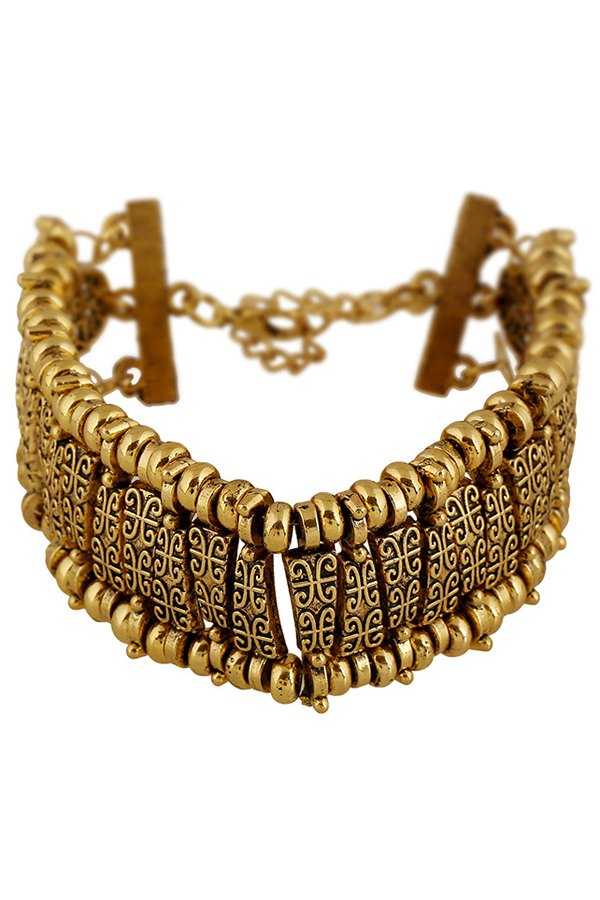 Classic Printed Bracelet - GOLDEN