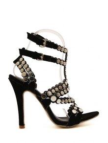 Sexy High Heel Suede Rivets Sandals