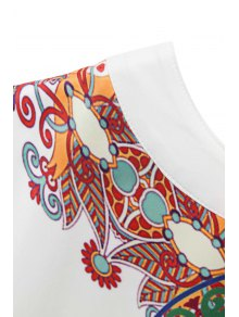 Retro Print Sleeveless Mini Dress