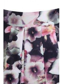 High-Waisted Printed Ruffled Ball Gown Skirt