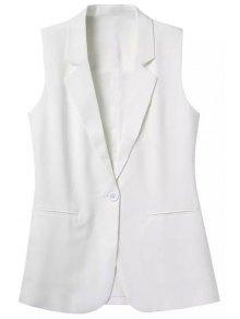 Lapel Pocket Solid Color Sleeveless Waistcoat
