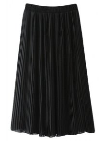 Pleated Chiffon A Line Skirt