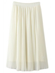Pleated Chiffon A Line Skirt