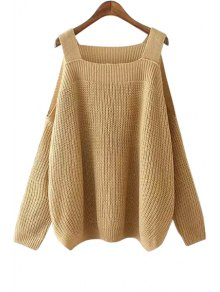 Solid Color Kintted Side Slit Loose Sweater