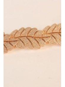 Leaf Shape Elastic Waistband - GOLDEN