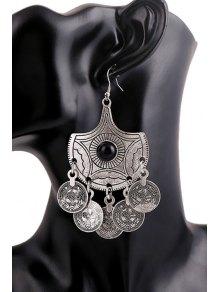 Trendy Beads Round Earrings For Women - SILVER