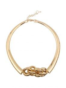 Splicing Circle Necklace - GOLDEN