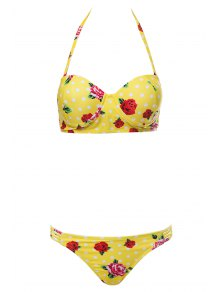 Floral Print Underwire Bathing Suit