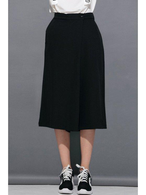 women's Black Wide Leg Fifth Pants - BLACK ONE SIZE(FIT SIZE XS TO M)