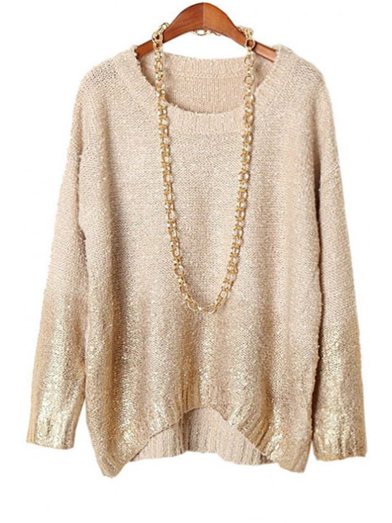 sale Gold Stamp Plus Size Knitwear - NUDE ONE SIZE(FIT SIZE XS TO M)