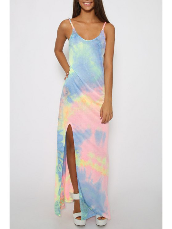 outfits Colorful Print Cami Maxi Dress - COLORFUL S