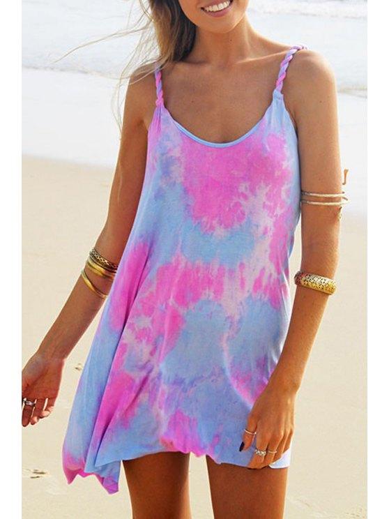 best Colorful Print Cami Dress - COLORMIX S