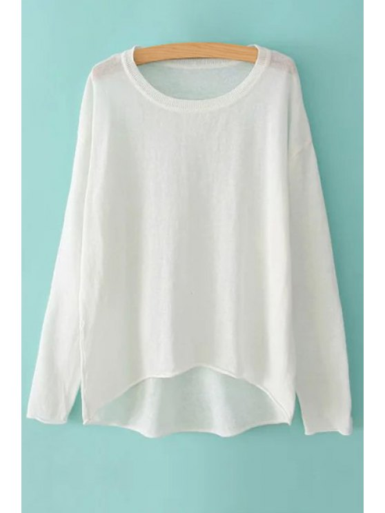 shops Solid Color Loose-Fitting Linen T-Shirt - WHITE ONE SIZE(FIT SIZE XS TO M)