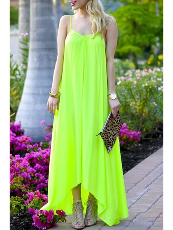 buy Cami Pure Color Maxi Dress - FLUORESCENT YELLOW S