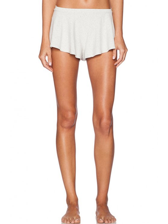outfit Low-Waisted Straigrt Leg Stretchy Shorts - OFF-WHITE S