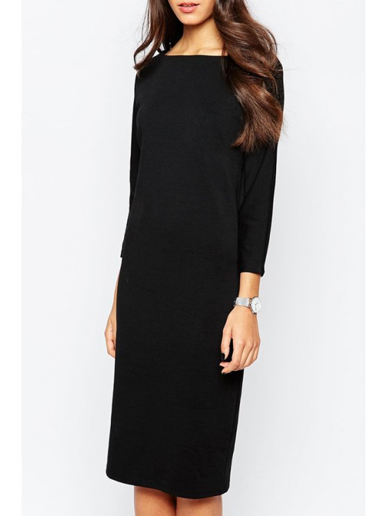 online Minimum 3/4 Sleeve Pencil Dress - BLACK S