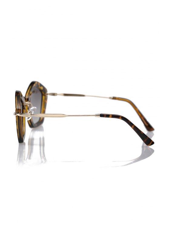 Leopard Pentagonal Frame Sunglasses - DEEP BROWN  Mobile