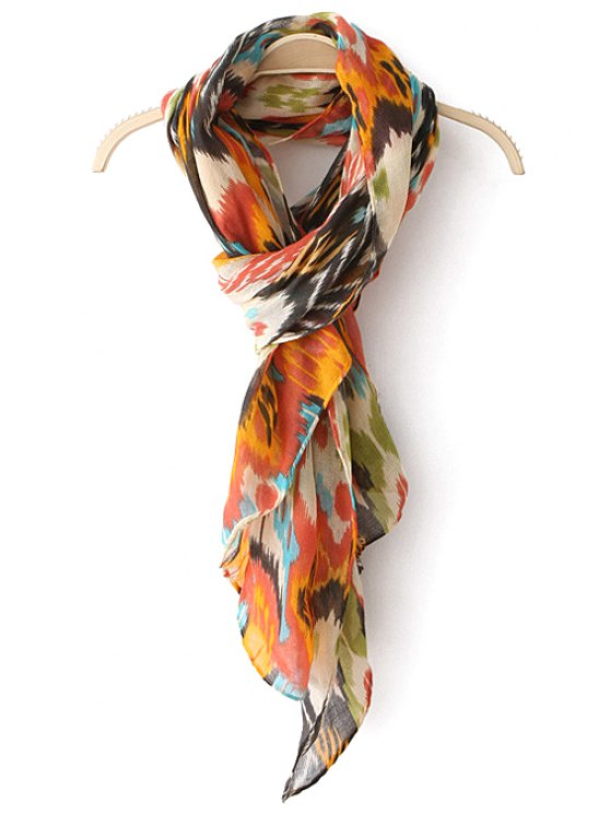 outfit Ethnic Printed Multifunctional Scarf - ORANGE