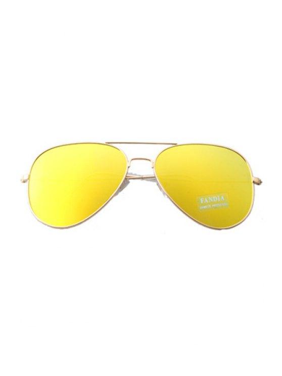 Golden Full Frame Sunglasses - YELLOW  Mobile