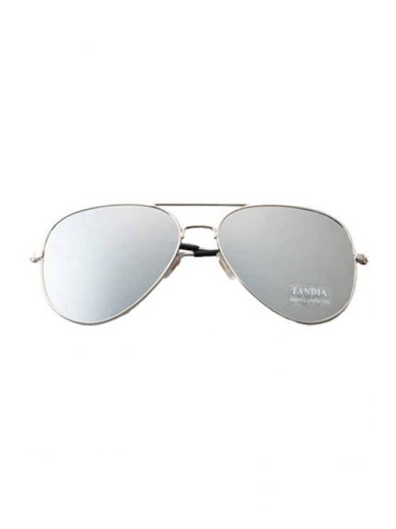 Silver Full Frame Sunglasses - LIGHT GRAY  Mobile