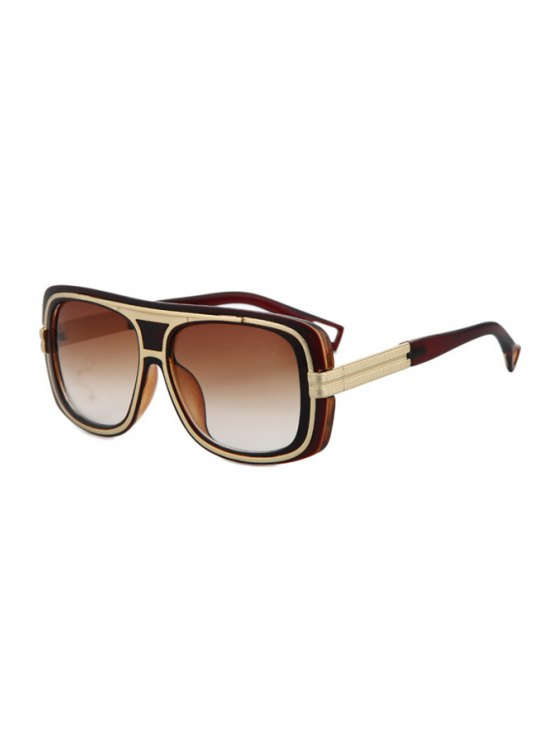 sale Metal Inlay Full Frame Sunglasses - TEA-COLORED