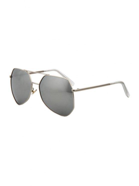 hot Silver Alloy Frame Sunglasses - SILVER