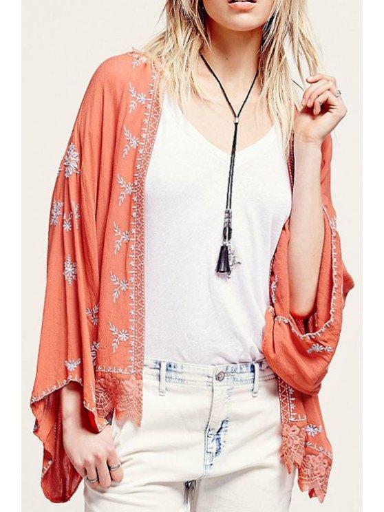 sale Wide Sleeve Embroidered Kimono Blouse - JACINTH S