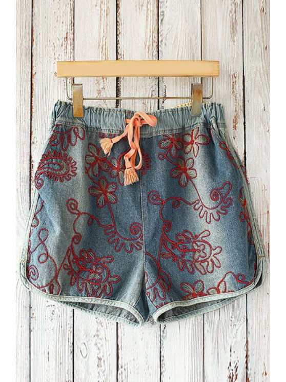 hot Straight Leg Drawstring Pocket Shorts - RED ONE SIZE(FIT SIZE XS TO M)