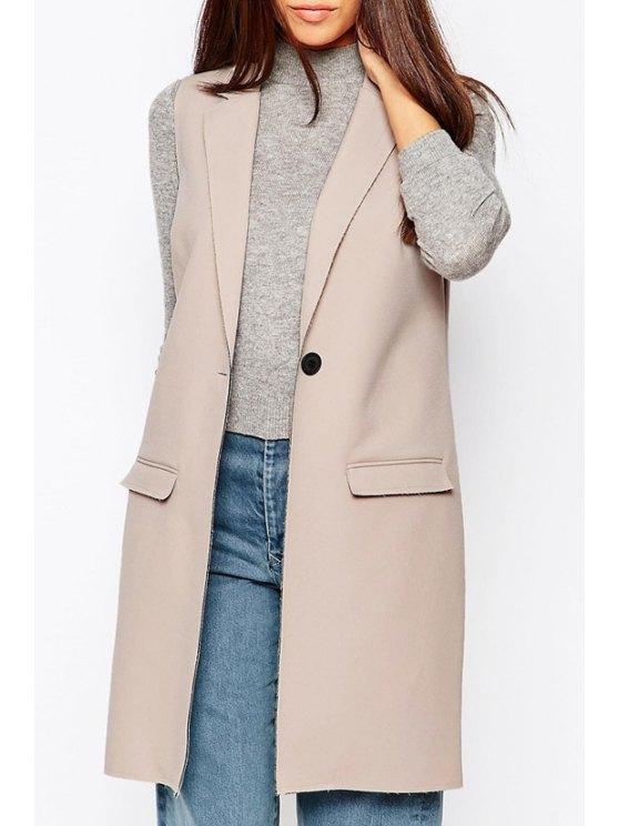 outfit Premium Sleeveless Blazer - CAMEL S