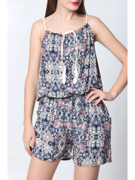 outfits Vintage Print Cami Playsuit - COLORMIX XL
