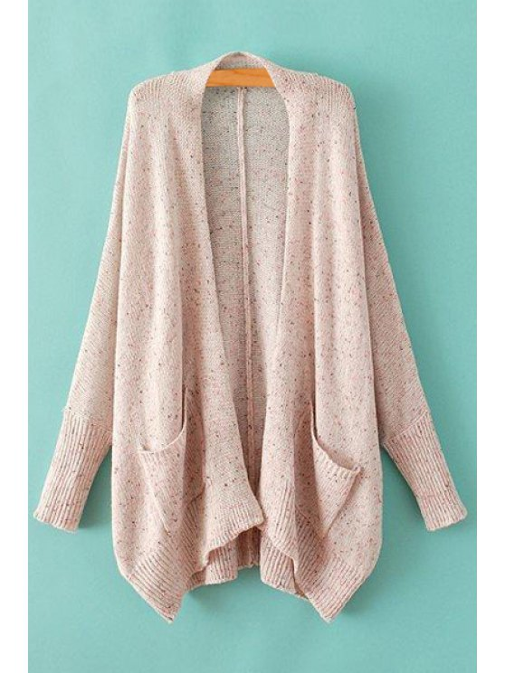 unique Batwing Sleeve Loose Pink Cardigan - PINK ONE SIZE(FIT SIZE XS TO M)