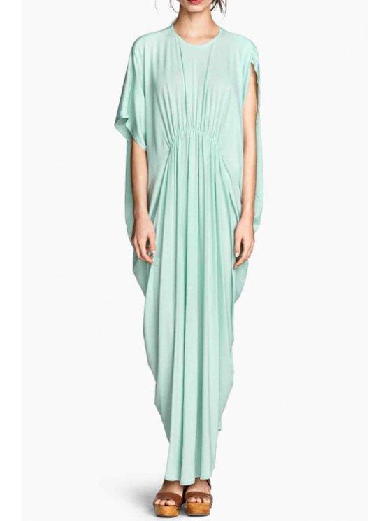 shops Batwing Sleeve Asymmetric Maxi Dress - MINT GREEN S