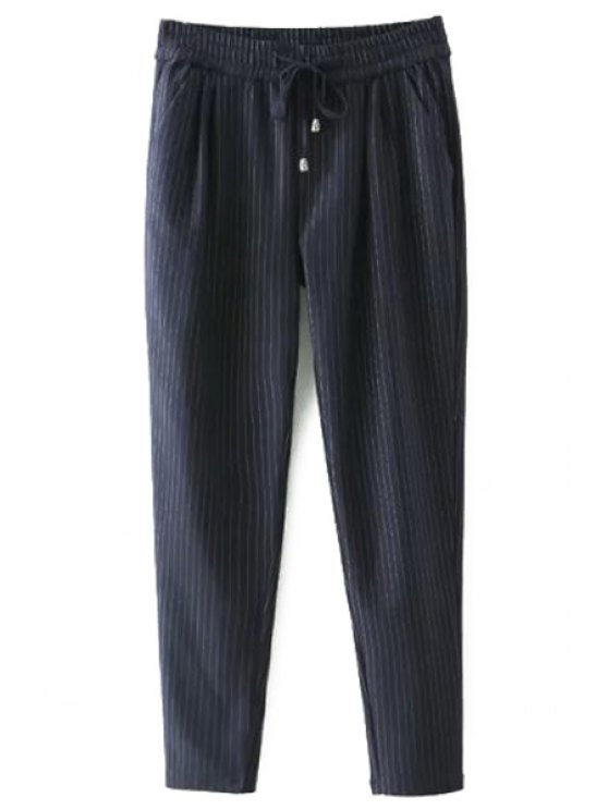 sale Tie-Up Stripe Pants - CADETBLUE 2XL