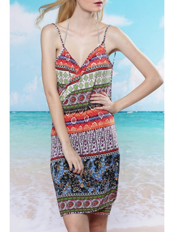 new Tribal Print Cami Backless Cover Up - COLORMIX ONE SIZE(FIT SIZE XS TO M)