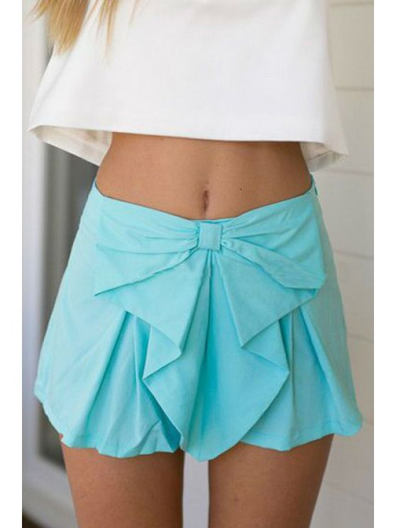 women's Candy Color High Waisted Shorts - AZURE S