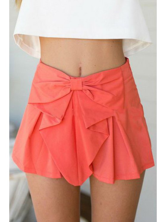 hot Candy Color High Waisted Shorts - WATERMELON RED S