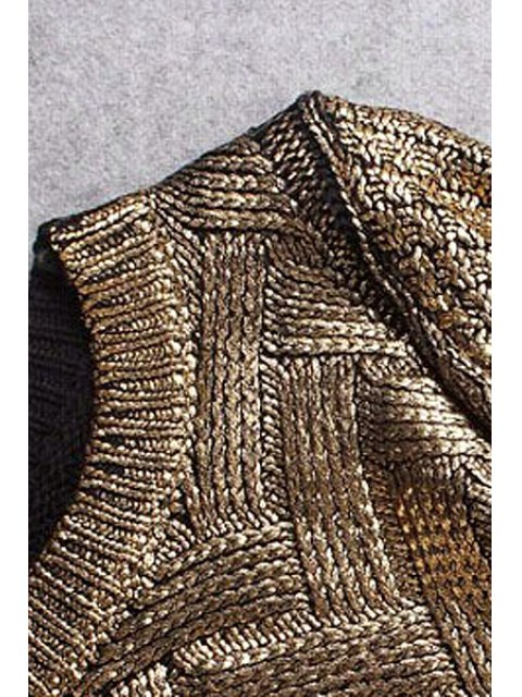 fashion High-Low Hem Sparkle and Glitter Sweater - SILVER ONE SIZE(FIT SIZE XS TO M) Mobile