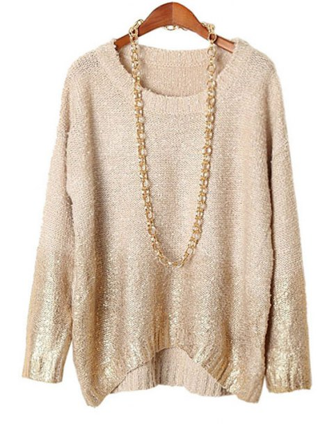 sale Gold Stamp Plus Size Knitwear - NUDE ONE SIZE(FIT SIZE XS TO M) Mobile