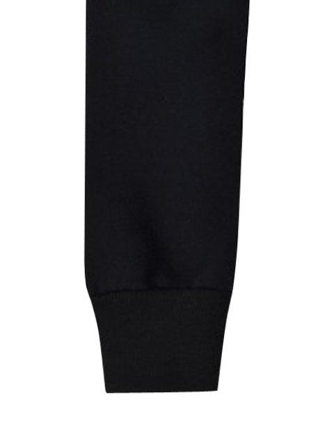 fancy Black Letter Print Sweatshirt - BLACK XL Mobile