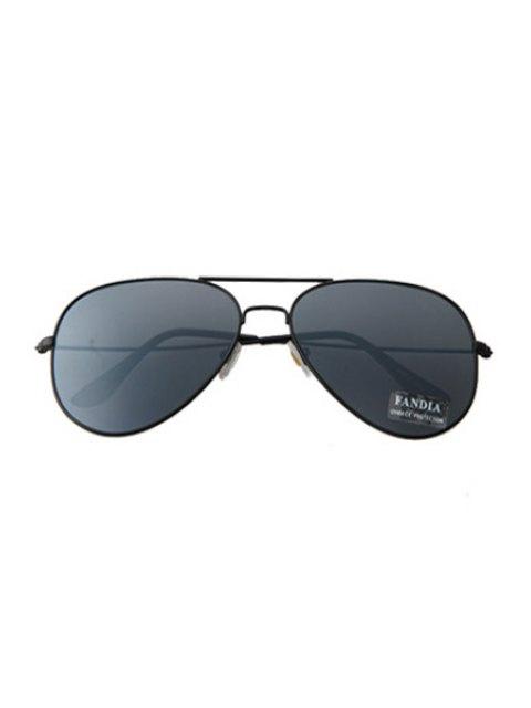 fashion Black Full Frame Sunglasses - BLACK  Mobile