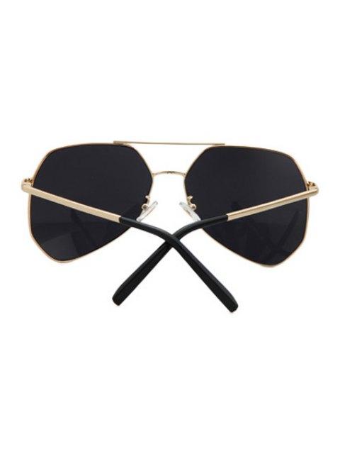 new Golden Alloy Frame Sunglasses - BLACK  Mobile
