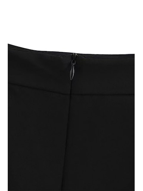 fancy Black High Waisted Bodycon Skirt - BLACK L Mobile