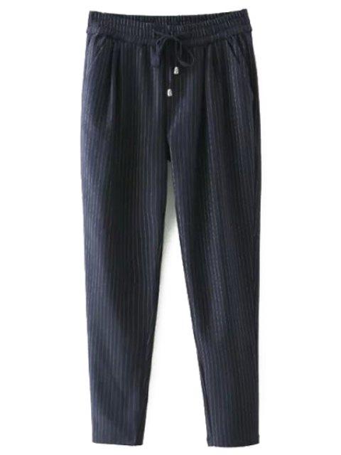 sale Tie-Up Stripe Pants - CADETBLUE 2XL Mobile