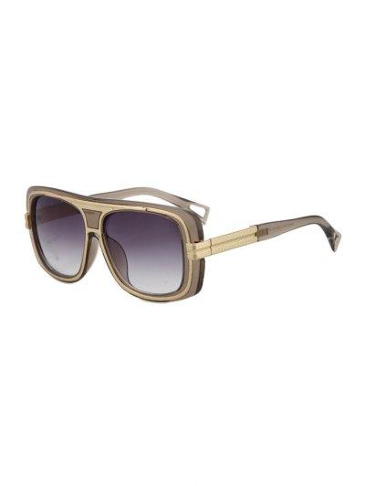Metal Inlay Transparent Frame Sunglasses - Deep Gray